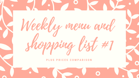 Weekly menu and shopping list banner